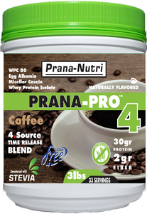 PRANA-PRO 4 Protein (3 pounds) 4 - Flavors (Peanut Butter Discontinued)