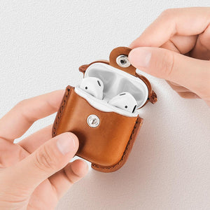 Faux Leather Apple AirPods Cover