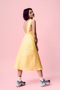 vivalafrins yellow dress vestido amarillo midi