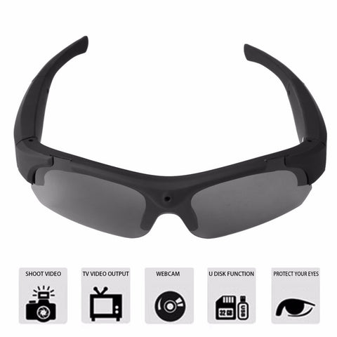 Image of 1080P HD Sports Camera Sunglasses Camcorder Eyewear with Polarized Lenses