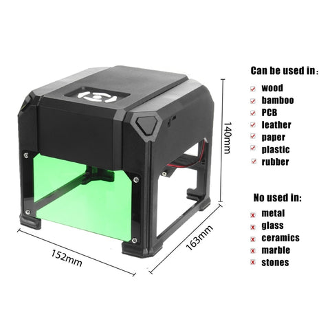 Image of Amazing Laser Engraver Machine Mini Portable Desktop USB 2000mW 80x80mm Engraving Range DIY Logo Mark Printer Cutter CNC Laser Engraving Machine