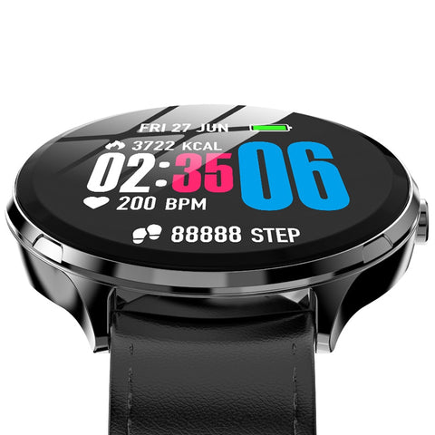 Heart Rate / Blood Oxygen Monitoring / Breathing Light / Tempered Glass Leather Smart Watch