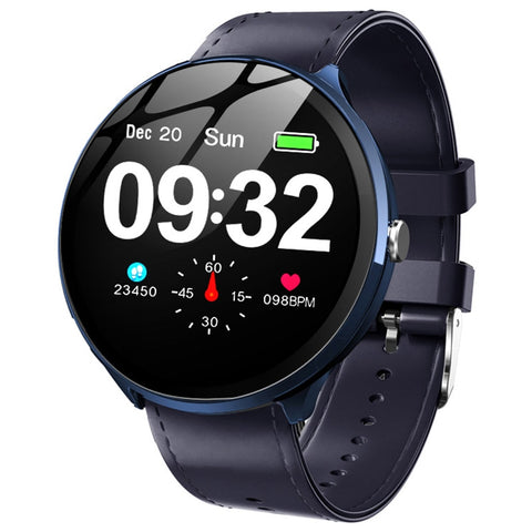 Image of Heart Rate / Blood Oxygen Monitoring / Breathing Light / Tempered Glass Leather Smart Watch