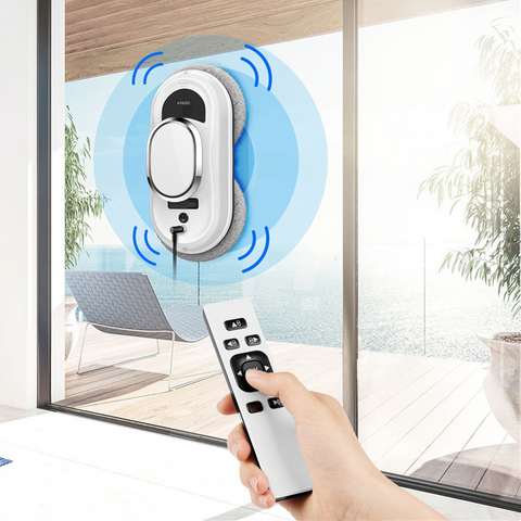 Image of Window Cleaning Robot Vacuum with Remote Control - Automatic Robot Glass Window and other Surfaces Cleaner and Washer