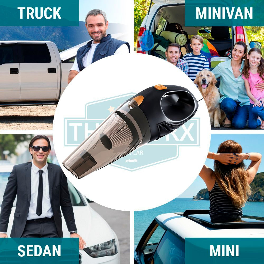 Powerful Car Vacuum Cleaner Handheld Portable 4800pa DC 12 Volt 120W  4.8KPA Cyclonic Wet/Dry Auto Vacuum Cleaner for Car Home or Office Cleaning Use