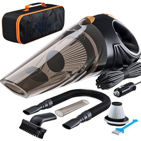 Image of Powerful Car Vacuum Cleaner Handheld Portable 4800pa DC 12 Volt 120W  4.8KPA Cyclonic Wet/Dry Auto Vacuum Cleaner for Car Home or Office Cleaning Use