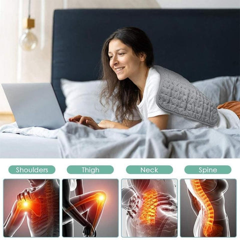 Image of Electric Physiotherapy Heating Pad 6 Levels Electric Heating Pad with Timer