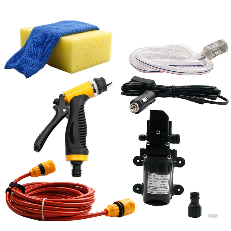 Portable High Pressure Car Washer 12V Gun Pump Electric Cleaning Auto Wash Maintenance Tool