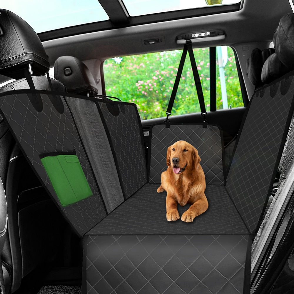 Multi-functional Dog Car Seat Cover with View Mesh