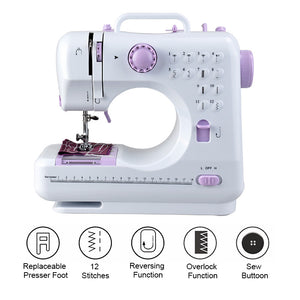 Multi-functional 12 Stitches Electric Mini Sewing Machine