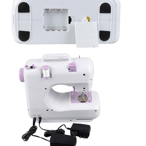 Image of Multi-functional 12 Stitches Electric Mini Sewing Machine