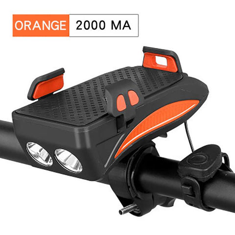 Image of Multi-function Bicycle Light USB Rechargeable LED Bike Head Lamp