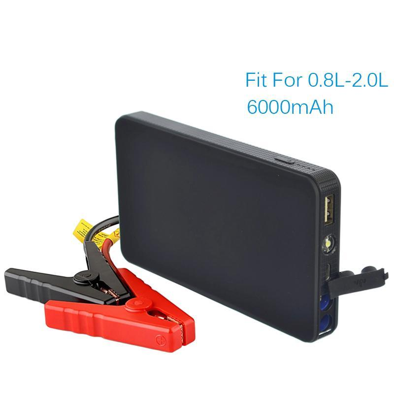 Multi-functional Portable 12V Car Battery Jump Starter + Power Bank + LED Light - Jump Start Up To 2.0L Car