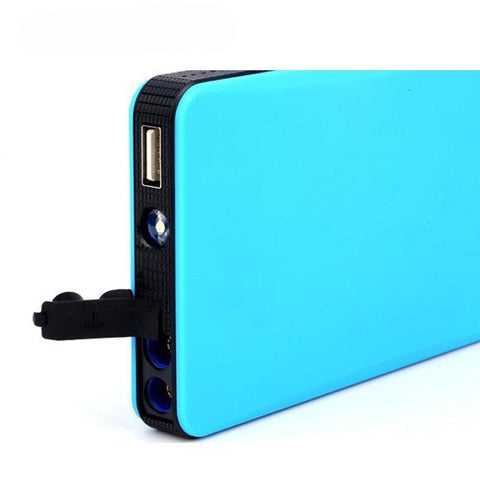 Image of Multi-functional Portable 12V Car Battery Jump Starter + Power Bank + LED Light - Jump Start Up To 2.0L Car