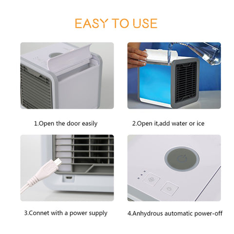 Image of Portable Air Cooler Personal Air Conditioner Humidifier Purifier - Quick & Easy Way to Cool Any Space