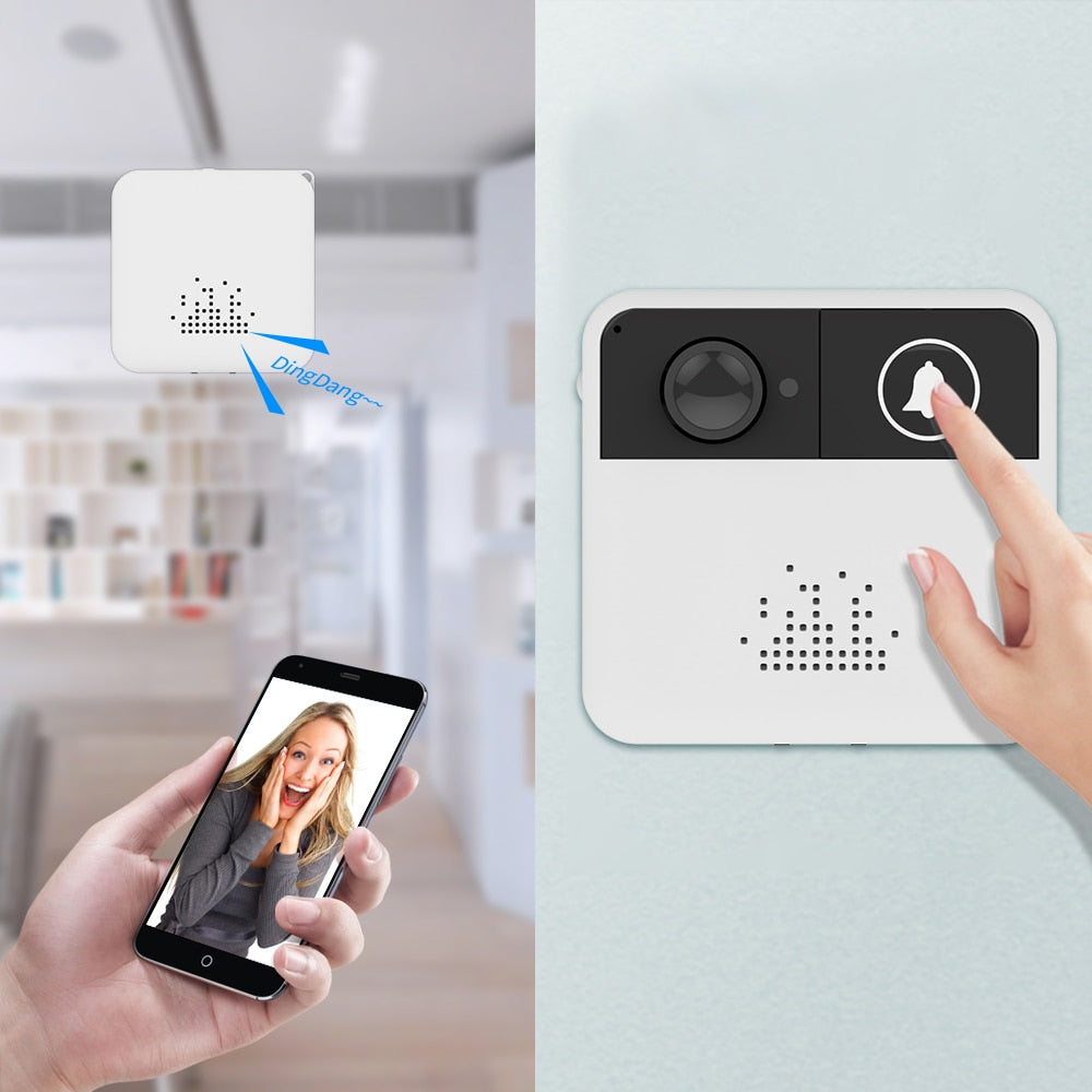 WiFi Smart Wireless Ring Doorbell Video Camera Monitor with Dingdang 2-Way Audio