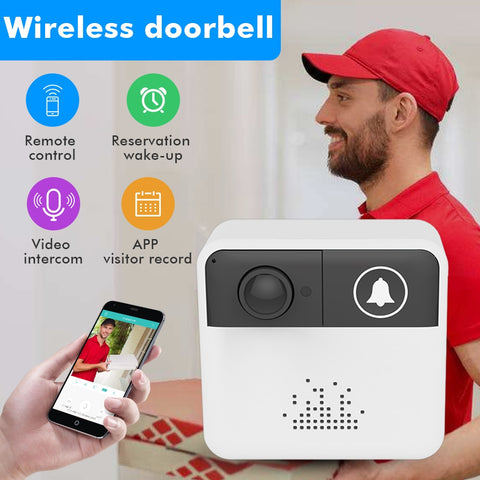 Image of Smart Video DoorBell Video Intercom with Wireless Security Camera and Alarm Alert Push Notification to SmartPhone