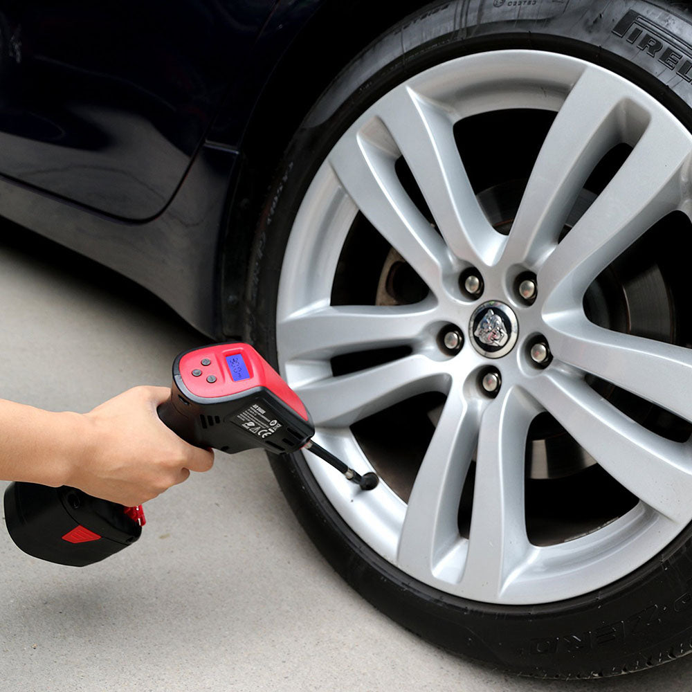Portable Tire Inflator Rechargeable Cordless Car Air Compressor Automatic Electric Tire Pump with Digital Display
