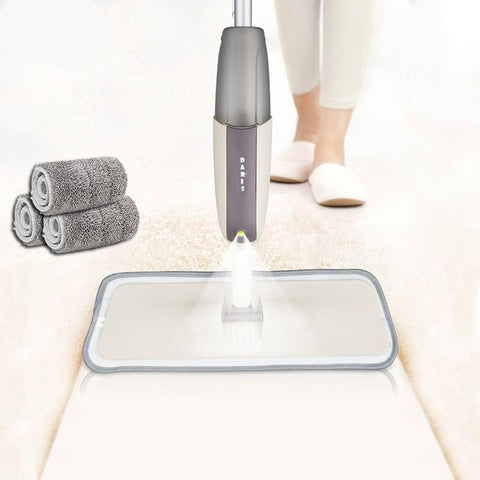 Image of Magic Spray Floor Mop with Reusable Microfiber Pads 360 Degree Handle Mop for Home Kitchen Laminate Wood Ceramic Tiles Floor Cleaning