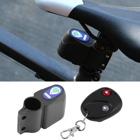 Anti-Theft Bicycle Alarm - Remote Controlled Bicycle Vibration Motion Detection Security Alarm