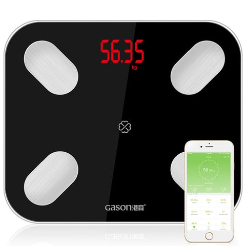 Image of Smart Bathroom Scale Digital BMI Calculator  Electronic BMI Scale with Body Composition Analyzer Bluetooth APP