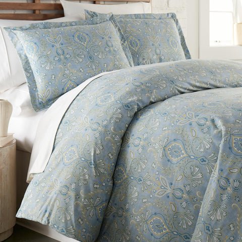 Country Summer Duvet Cover in Blue