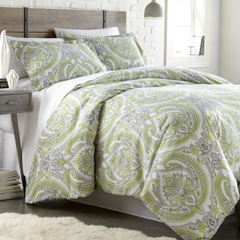 Green Sing To Me Duvet