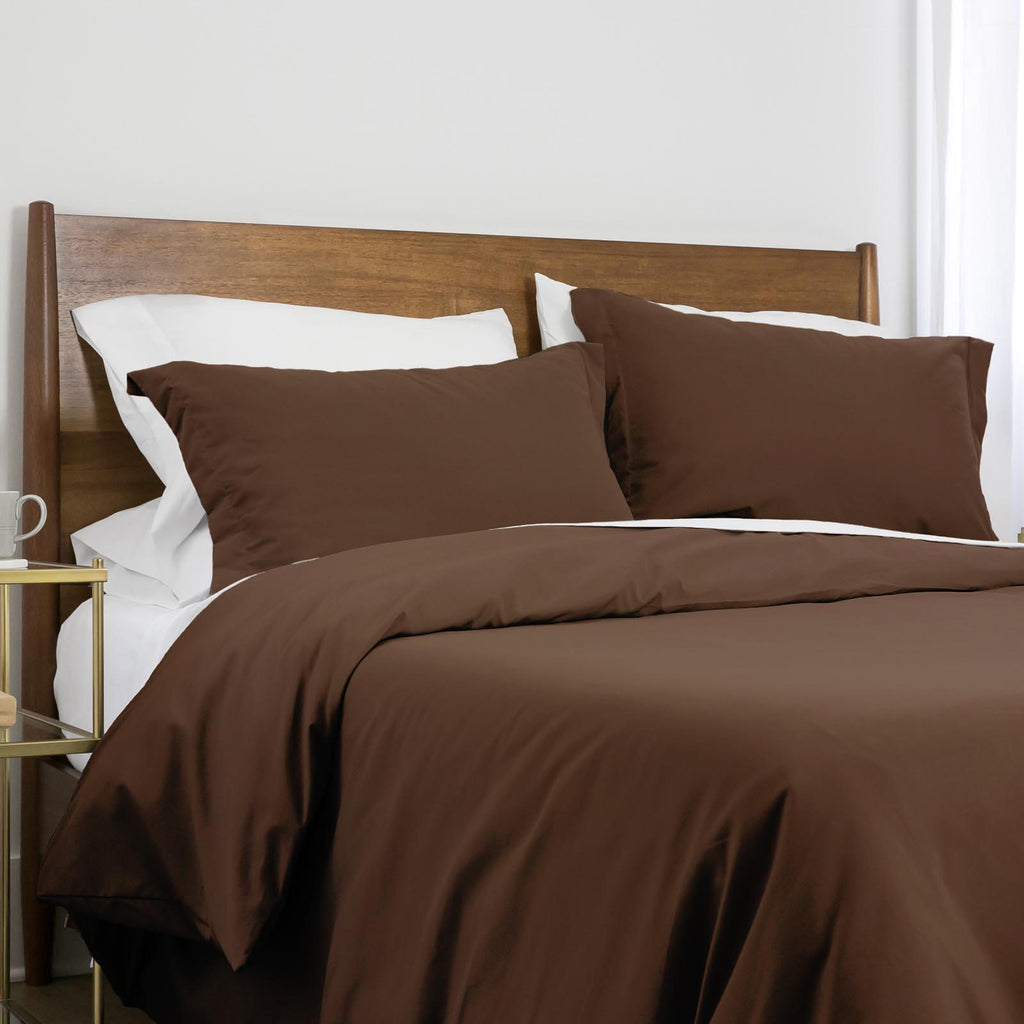 100 gsm basics_duvet cover set_brown