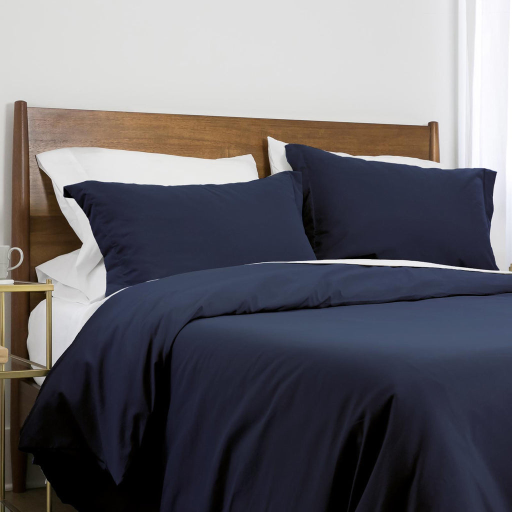 100 gsm basics_duvet cover set_dark blue