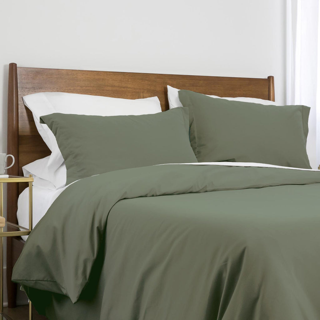 100 gsm basics_duvet cover set_dark green