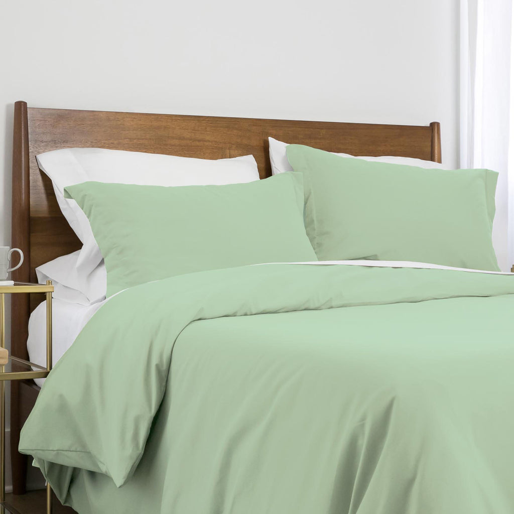 100 gsm basics_duvet cover set_light green