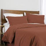 100 gsm basics_duvet cover set_marsala