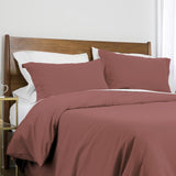 100 gsm basics_duvet cover set_rose