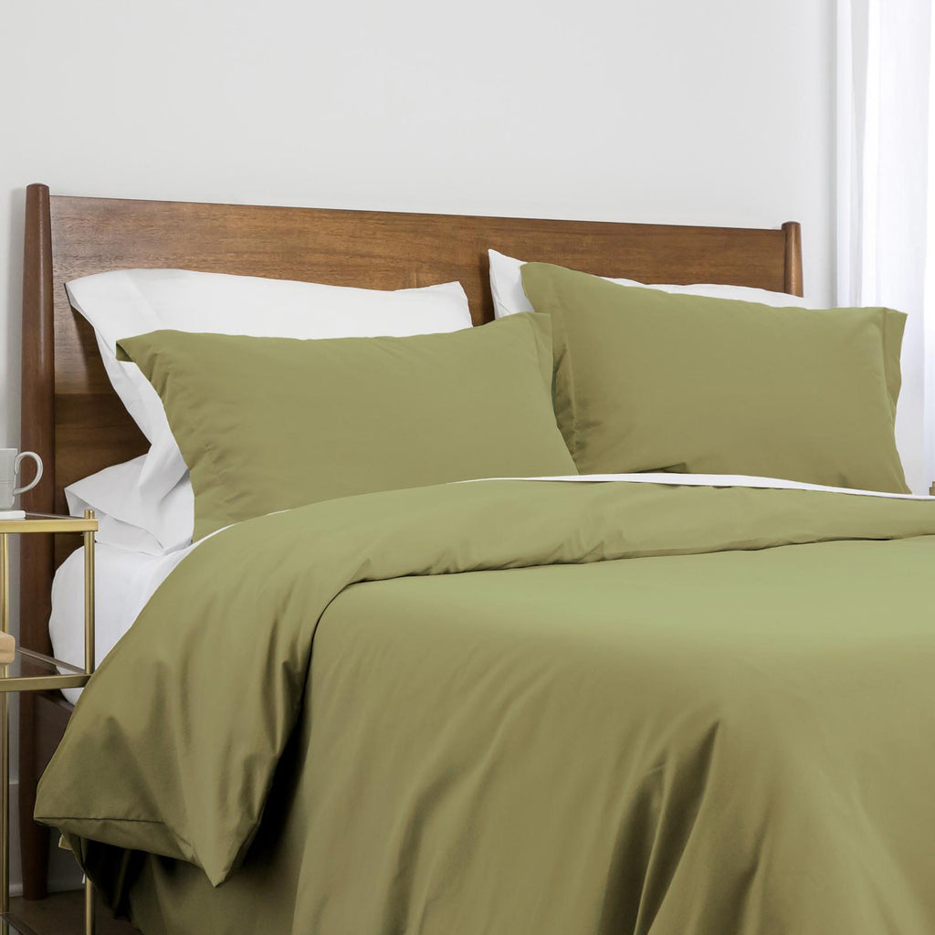 100 gsm basics_duvet cover set_sage green