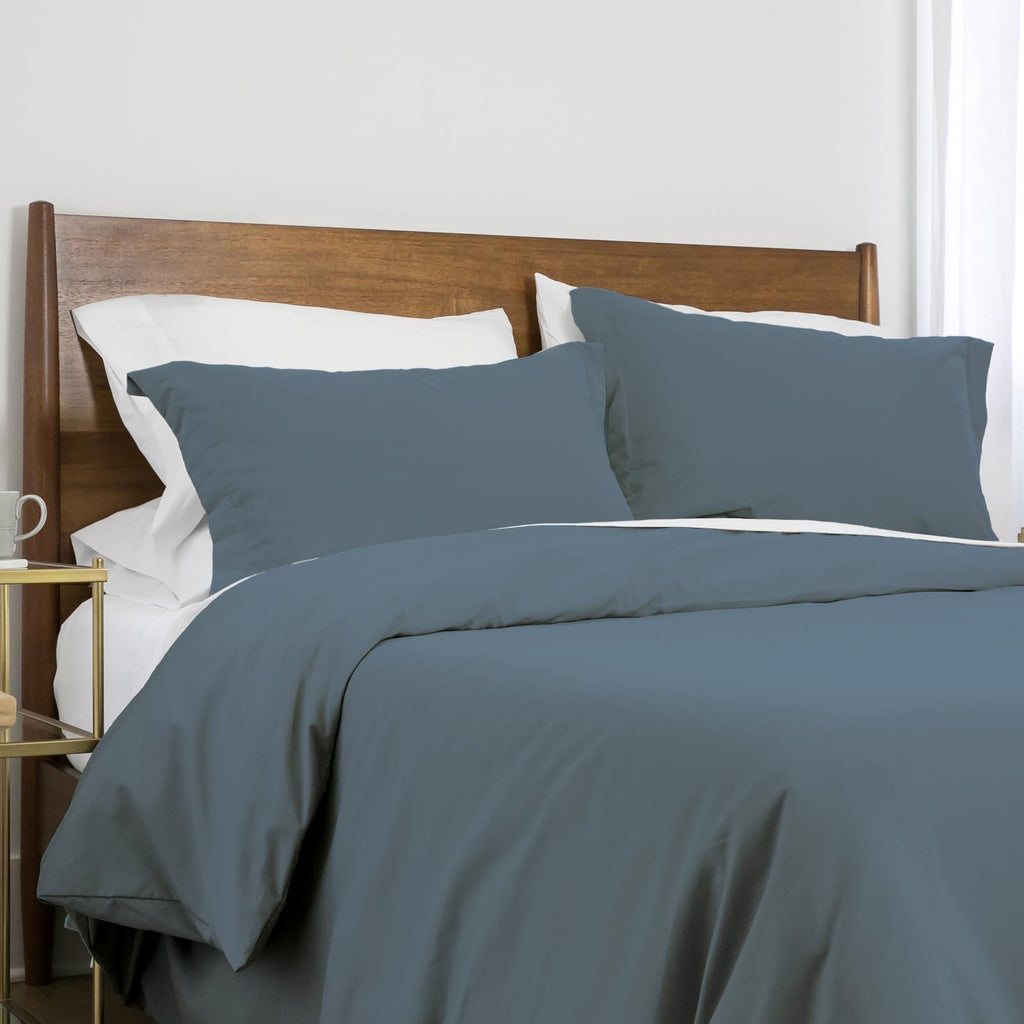 100 gsm basics_duvet cover set_steel blue