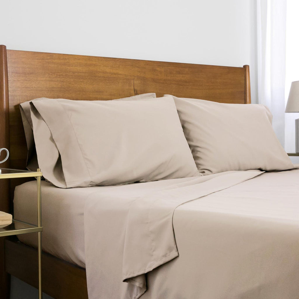Classic 100 GSM Microfiber_Sheet Set_bone