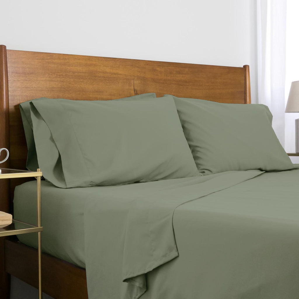 Classic 100 GSM Microfiber_Sheet Set_dark green
