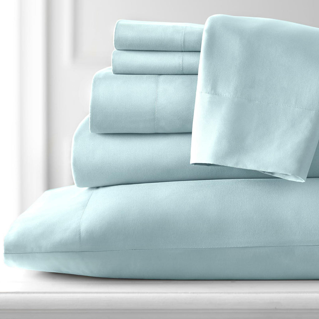 Classic 100 GSM Pastels Microfiber_Sheet Set_Light Blue