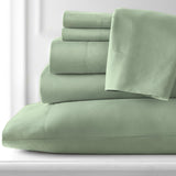 Classic 100 GSM Pastels Microfiber_Sheet Set_Light Green