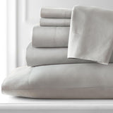 Classic 100 GSM Pastels Microfiber_Sheet Set_Light Grey