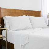 Classic 100 GSM Microfiber_Sheet Set_bright white