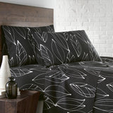 Contemporary Leaves_ sheet set_black