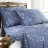 Contemporary Leaves_ sheet set_blue