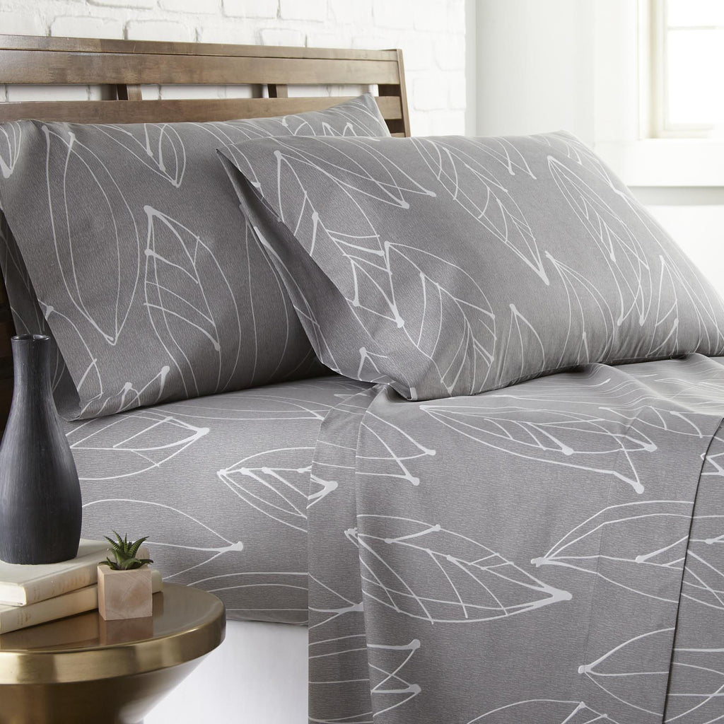 Contemporary Leaves_ sheet set_grey