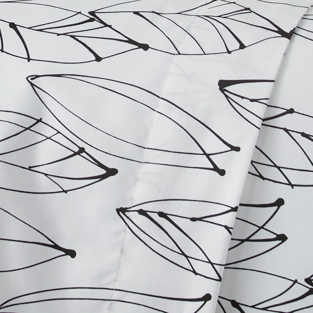 Contemporary Leaves_ sheet set_white and black
