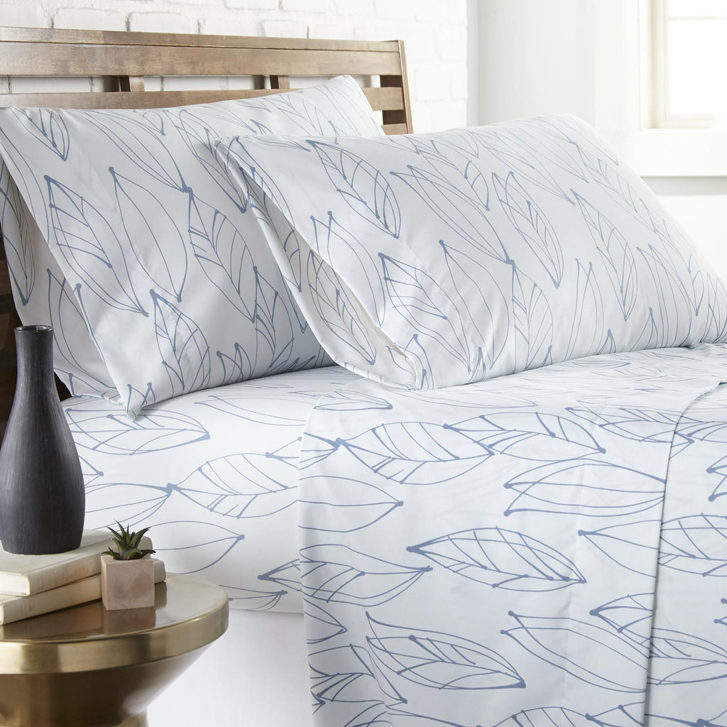 Contemporary Leaves Printed Sheet Set