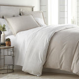 Labyrinth Fantasy_Duvet cover_ taupe white