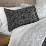 Radiant Rosebud_duvet cover set_black