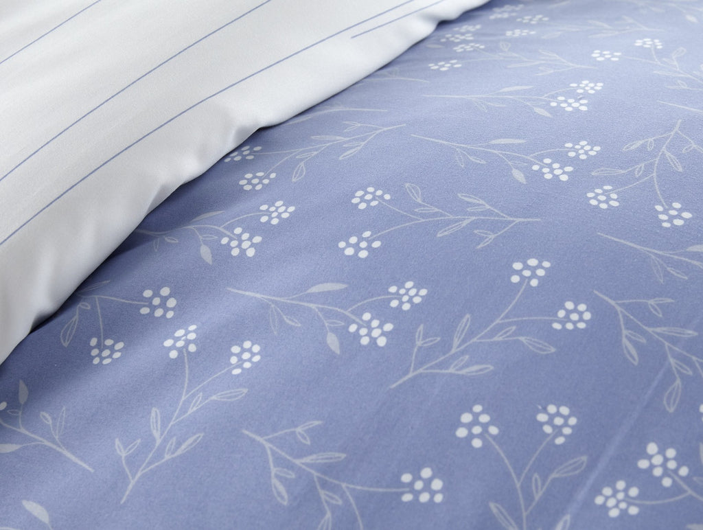 Flower Field Reversible Duvet Cover Set