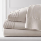 Soft Earth Tones_Pleated Sheet Sets_bone